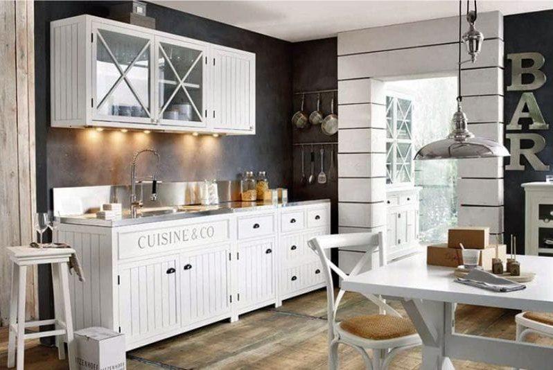 מלים פנים לקישוט המטבח בסגנון של בית קפה