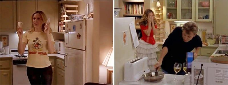 Episódios de filmagem na cozinha