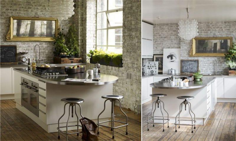 Plantes d'intérieur de style loft dans la cuisine