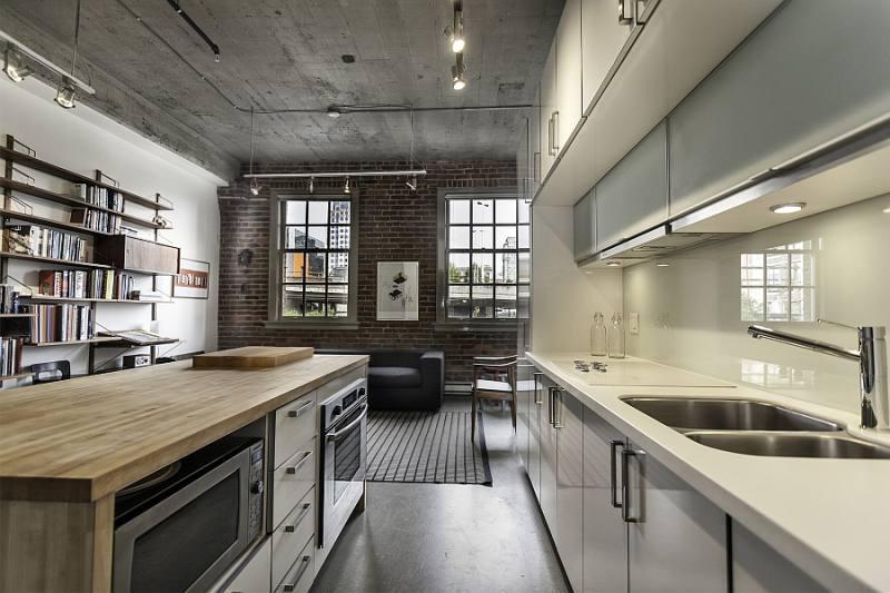 Décoration de plafond de cuisine loft