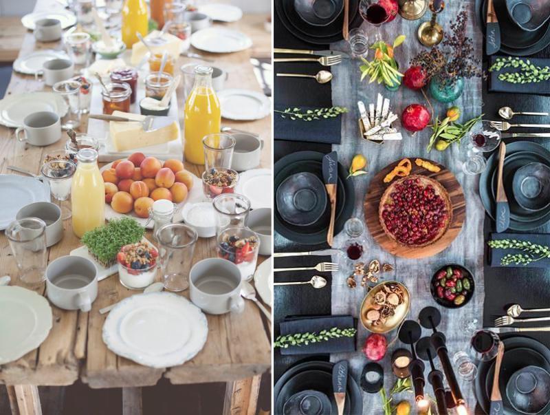 הגדרת שולחן חגיגי בסגנון כפרי