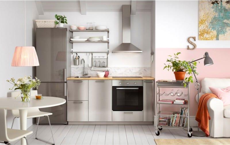 Szürke-rózsaszín konyha