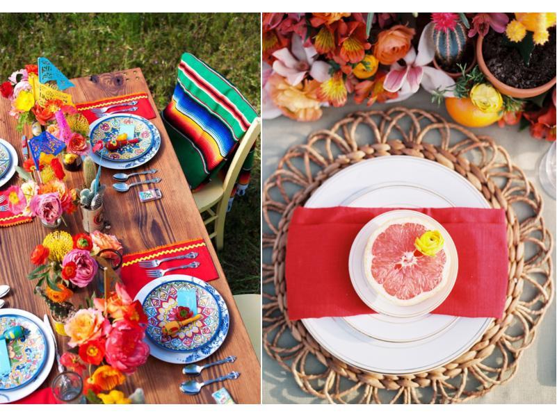 סגנון שולחן יום הולדת מקסיקני