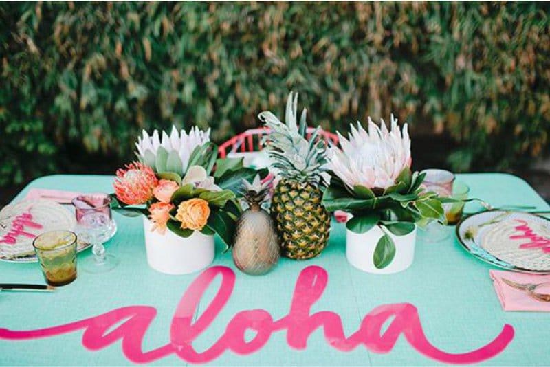 סגנון שולחן בסגנון הוואי