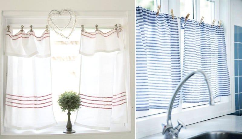 Rideaux café de serviettes
