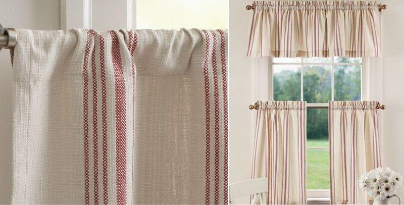 Függöny kávézó zseb nélkül, frill és frill