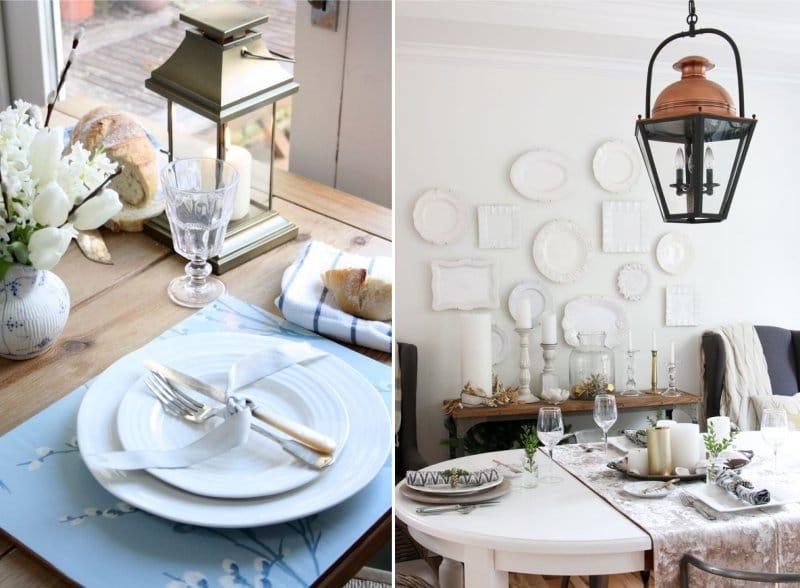 אפשרויות תפאורה וכלי שולחן