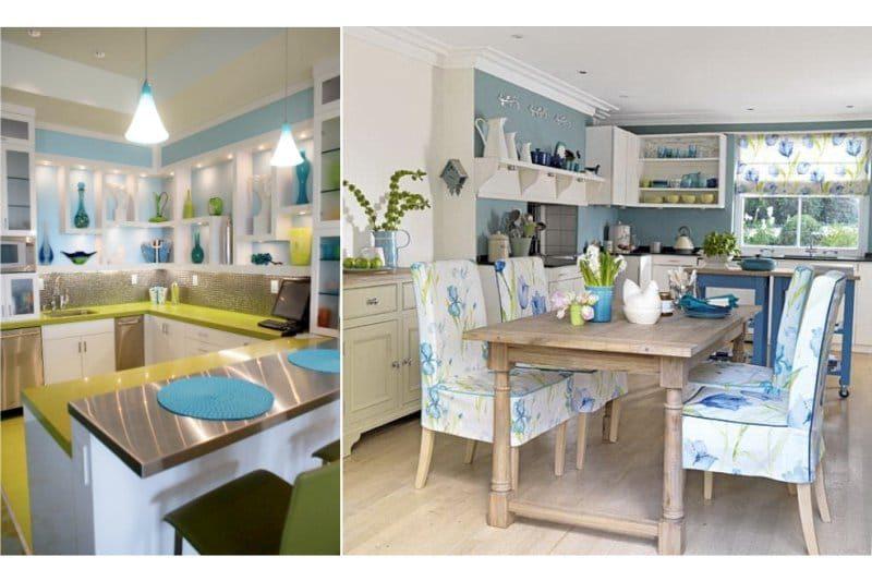 Zöld és kék konyha