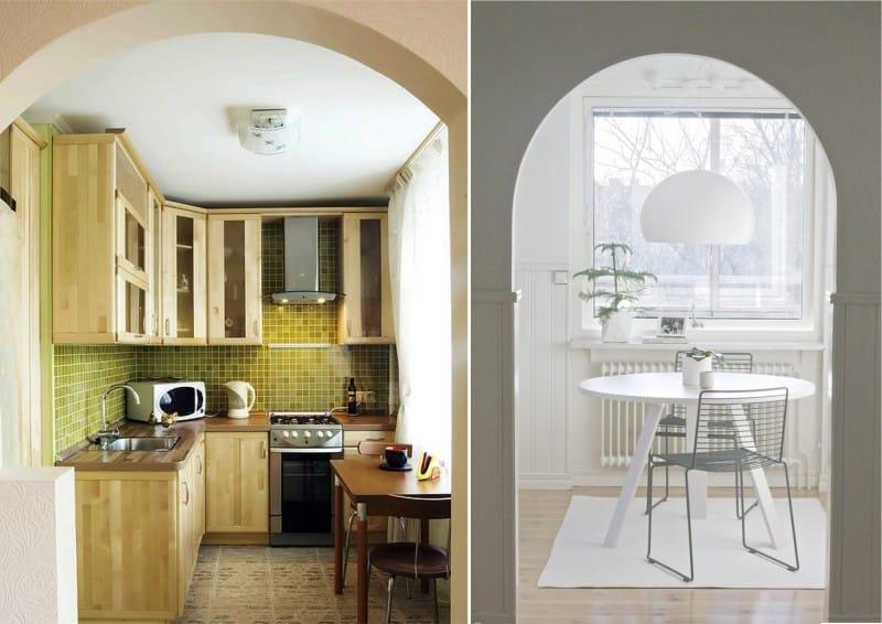 Arch pienen keittiön sisätiloissa