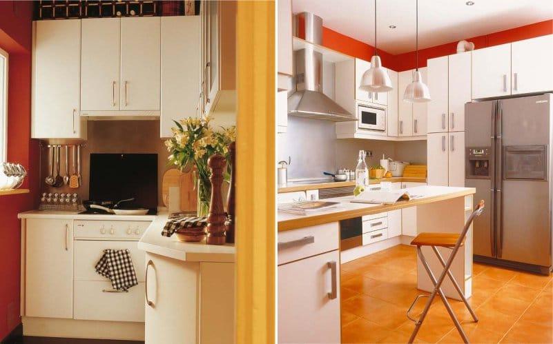 Dapur putih dan oren