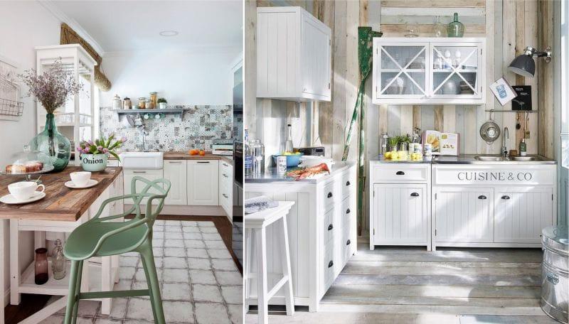 Bouteilles et verre à l'intérieur de la cuisine dans le style marin