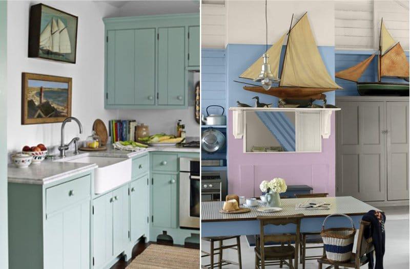 Décoration de cuisine de style nautique