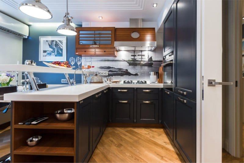 Intérieur de cuisine de style nautique