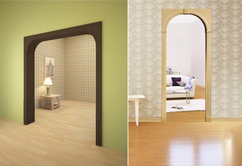 ส่วนโค้งระหว่างห้องที่มีส่วนโค้งเป็นรูปสี่เหลี่ยมผืนผ้า