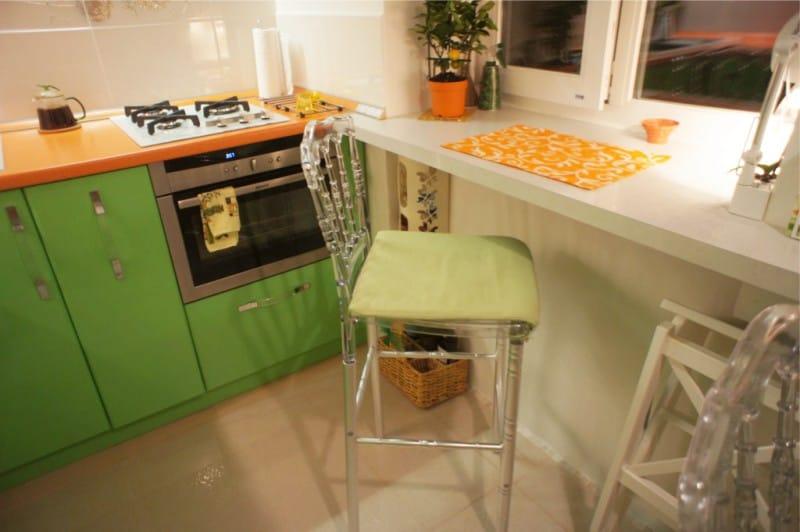 Orange Green Kitchen