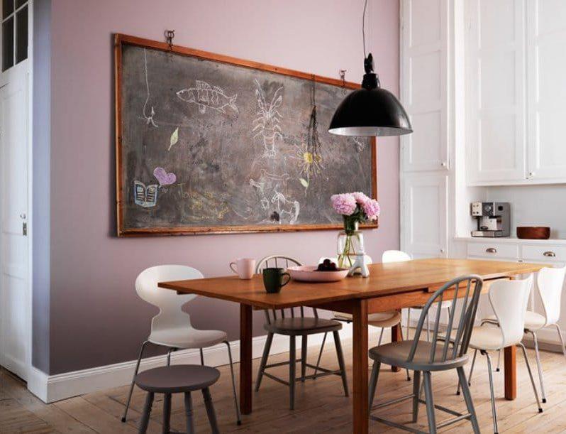 Dapur putih-lilac