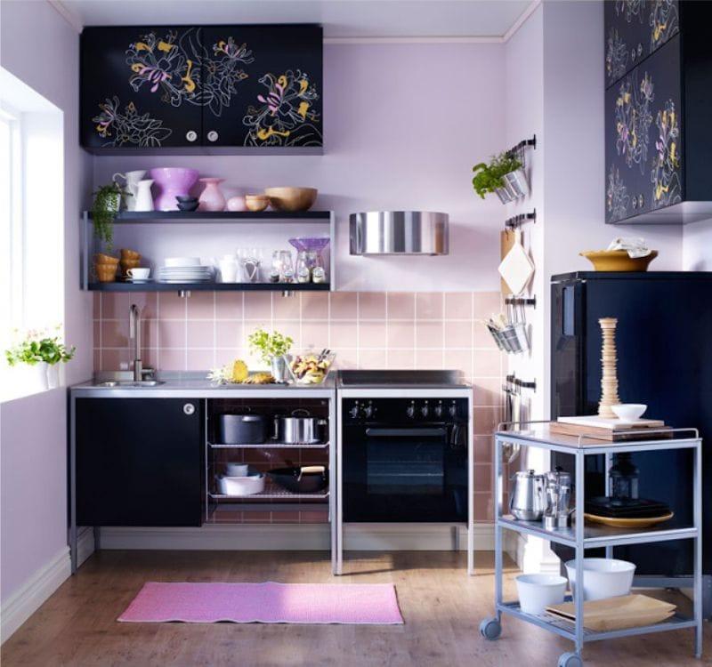 Dapur hitam dan lilac