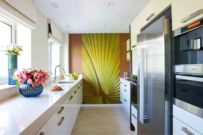 Portocaliu maro în interiorul bucătăriei