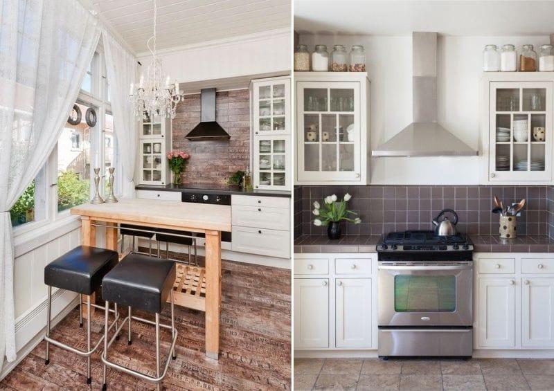 Șorț maron în interiorul bucătăriei