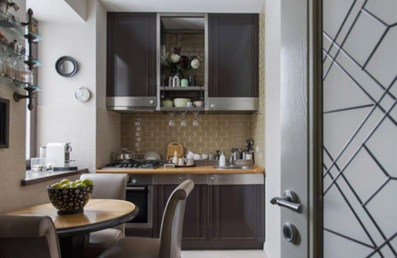 Bucătărie clasică maro