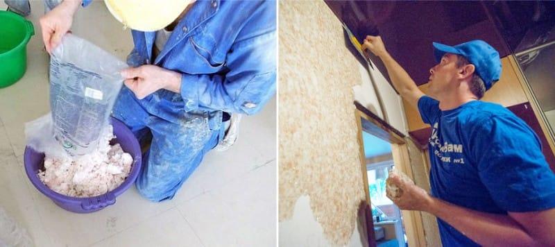 Folyékony tapéta alkalmazása a falon