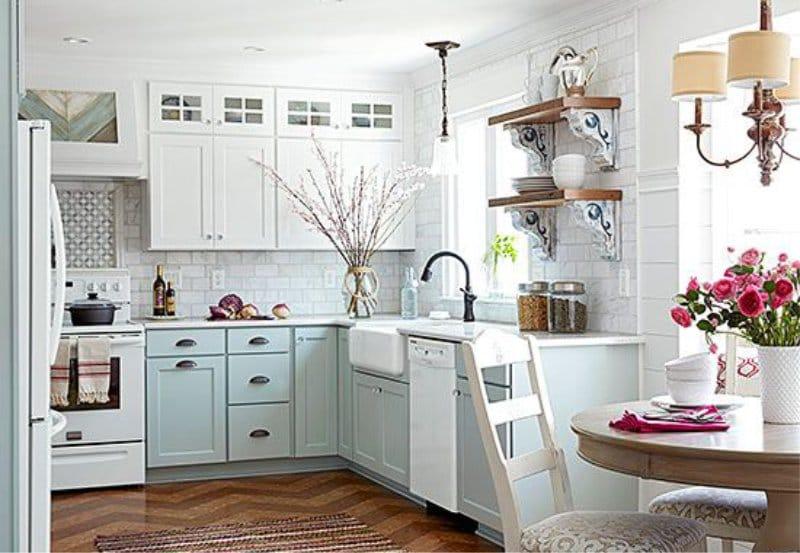 רצפת קורק בפנים המטבח