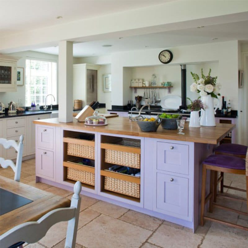 Country Style Lilac Kitchen