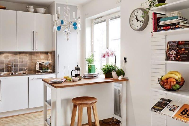 שעון הפנים של המטבח בסגנון סקנדינבי
