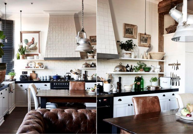 התמונה בתוך המטבח בסגנון קלאסי
