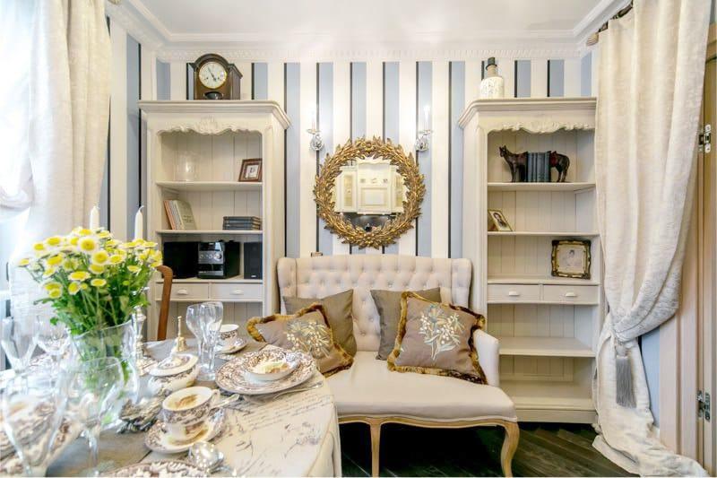 Rack büfé klasszikus stílusban a konyha belsejében