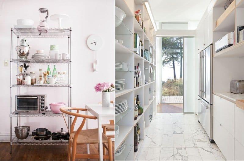 Rack a modern konyha belsejében