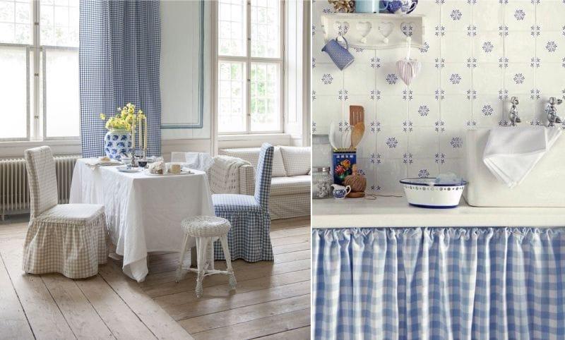 La combinaison de porcelaine blanche et bleue avec une cage