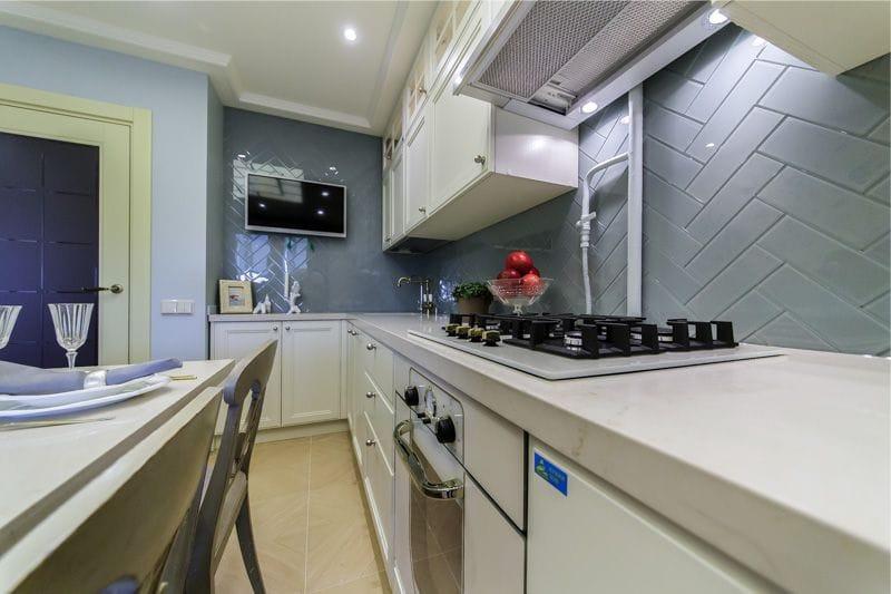 Cucina di design 10 metri quadrati. m: 10 suggerimenti e 30 ...