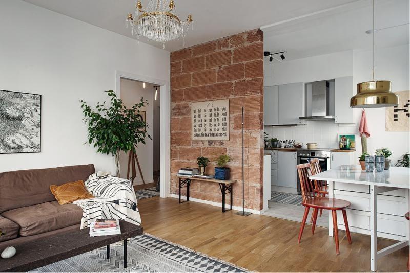 Køkken-stue på 8 kvadratmeter. m