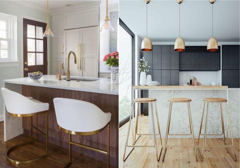 כיסאות זהב במטבח