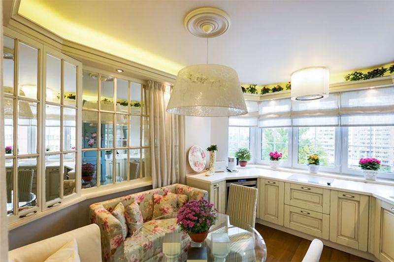 Cuisine avec une baie vitrée de 13 mètres carrés. m
