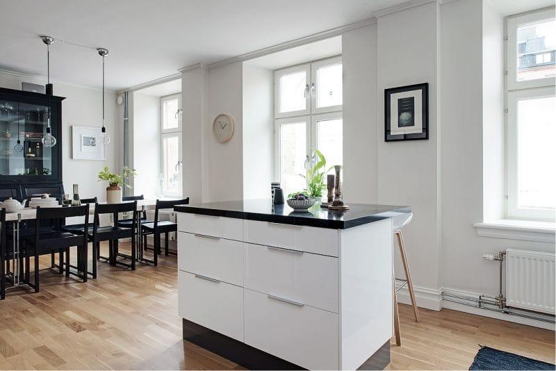 Firkantet køkken på 13,1 kvadratmeter. m