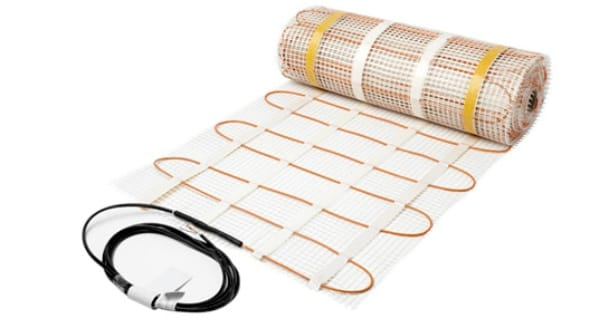 Elektromos kábel meleg padló szőnyeg formájában