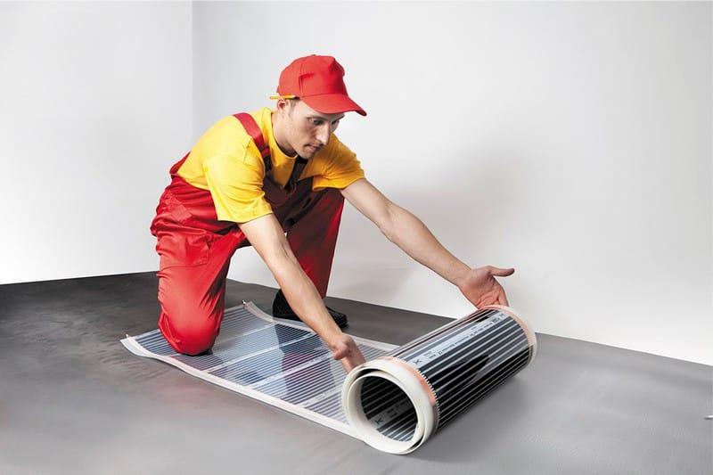 Fólia infravörös hőszigetelésű padlóburkolat