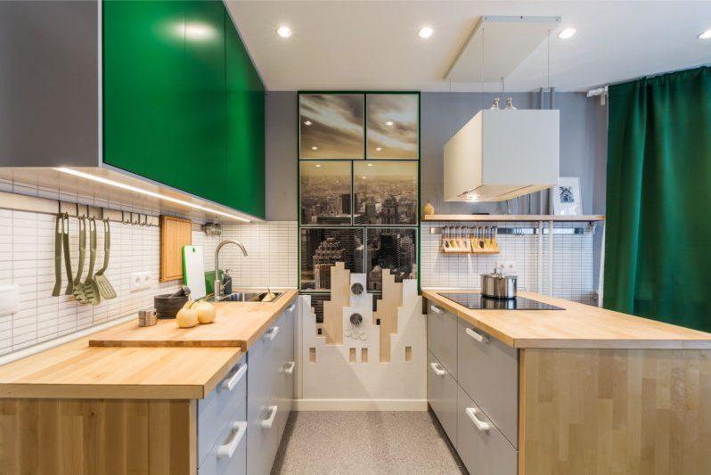 15 meter køkken med karbad og halvø