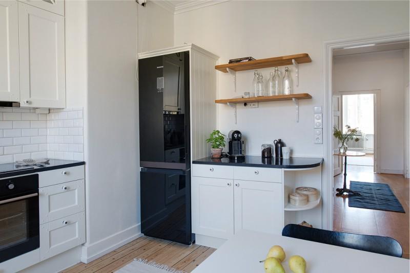 U-alakú konyha 16 négyzetméter. m