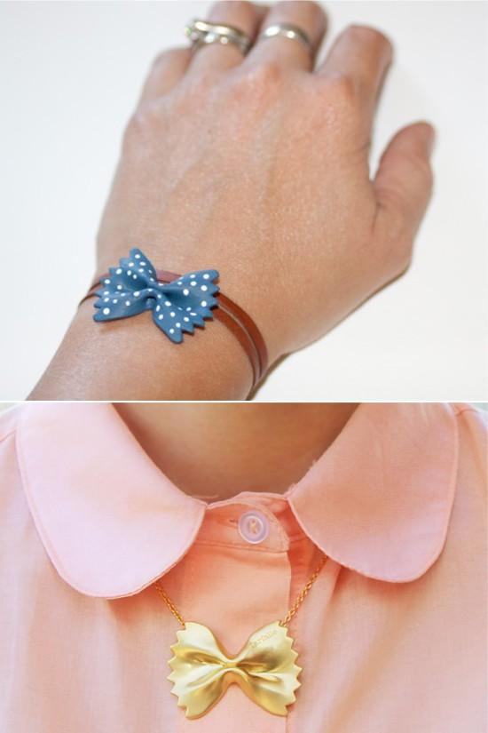 Bracelet et collier d'arcs de pâtes