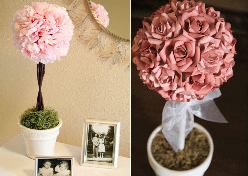 רעיונות לקישוט עם פרחים מלאכותיים