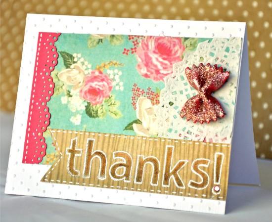 Carte postale avec décor de pâtes