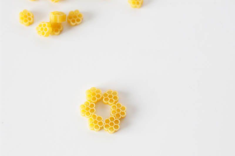 Macaroni flocon de neige - fabrication du noyau