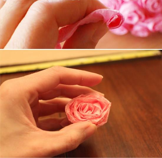 הכנת ורדים מנייר גלי