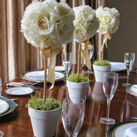 טופיארי להגדרת שולחן חגיגי