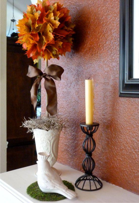 Kézzel készített mesterséges őszi levelek