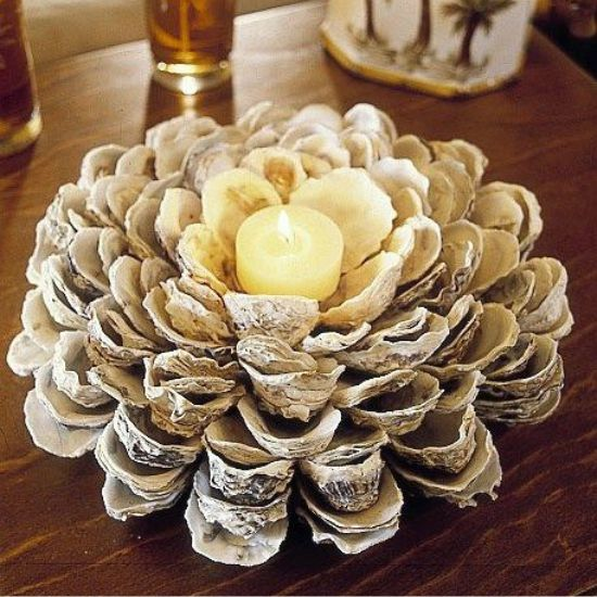 Shell virág gyertyatartó