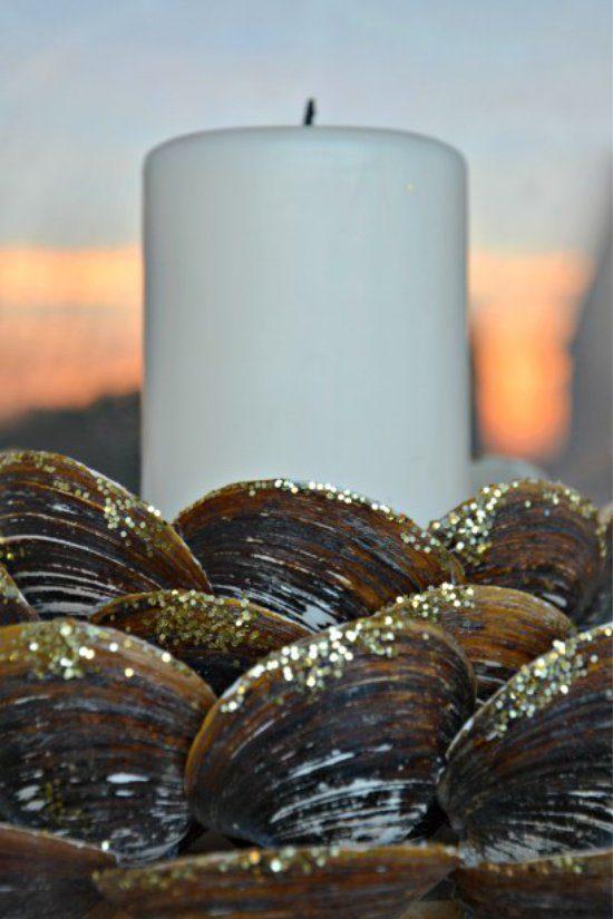 Kagyló gyertyatartó